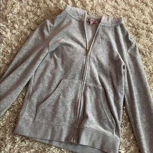 Juicy couture velour zip up sweatshirt